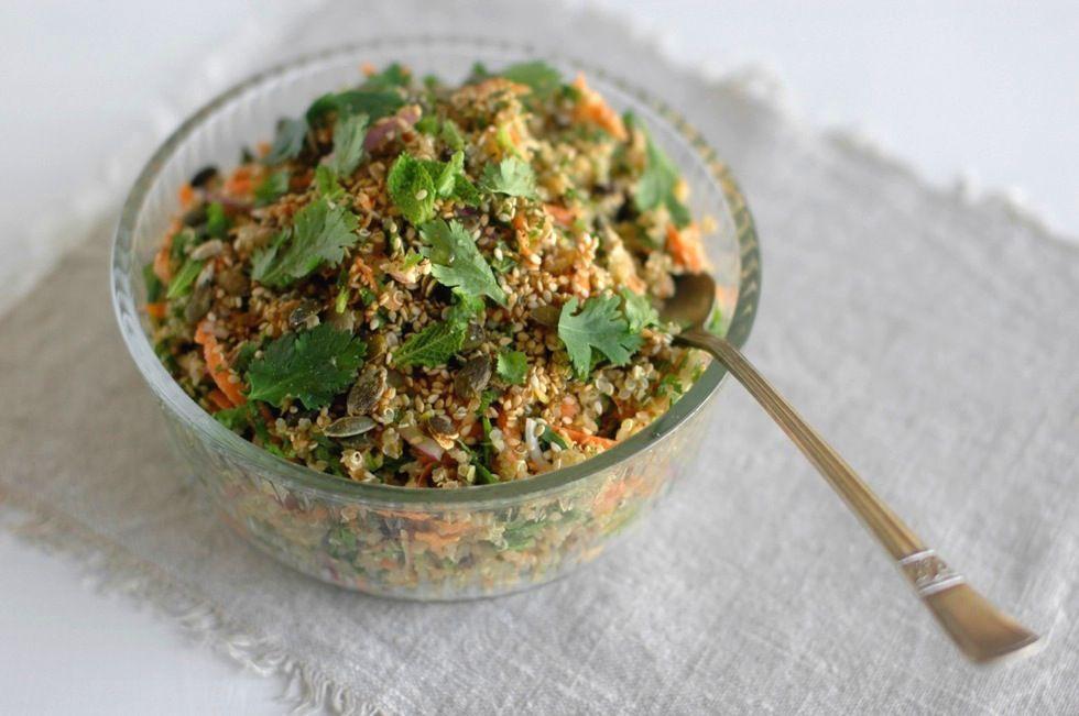 quinoa salad dairy gluten free protein low gi