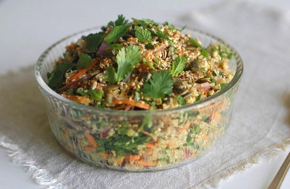 quinoa salad gluten dairy free protein low gi