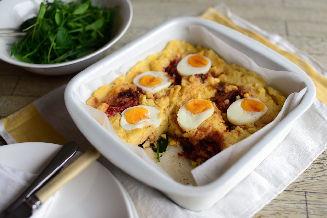Recipe: Polenta Slice with Bacon & Boiled Eggs | Better ...