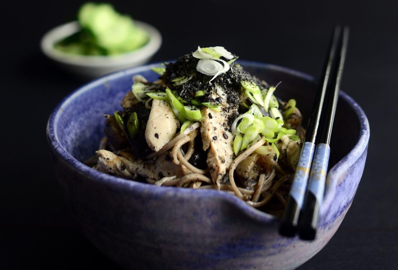 chicken soba salad gluten dairy free protein low gi