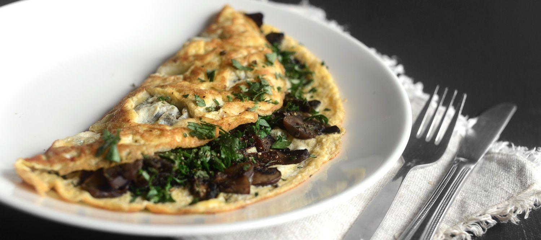 mushroom omelette protein gluten dairy free